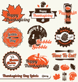 Thanksgiving Day Labels vector image vector image