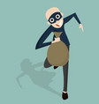 thief cartoon character vector image