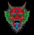 traditional devil tattoo design vector image