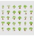 Tree symbols for green web design vector image