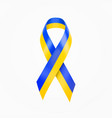 ukraine colors wave ribbon blue and yellow srip vector image vector image