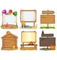 wooden signboards set vector image vector image