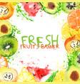 fresh fruit watercolor banner watercolored apple vector image