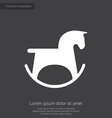 horse toy premium icon white on dark background vector image
