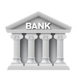 Stone building of bank vector image