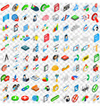 100 project management icons set isometric style vector image vector image