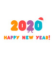 2020 logo colorful numbers with congrats vector image vector image