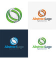 abstract logo and icon vector image vector image