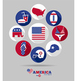 American invitation vector image vector image
