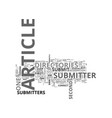 article submitters are incredible text word cloud vector image vector image