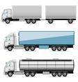 autotruck set vector image