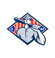 Baseball Batter Hitter Bat Shoulder Retro vector image vector image
