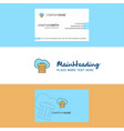 beautiful cloud trash logo and business card vector image vector image
