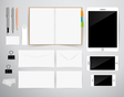Blank Template Consist of Business cards Notebook vector image vector image