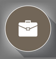 briefcase sign white icon on vector image