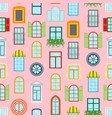 cartoon windows background pattern vector image vector image
