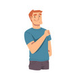 cheerful young man wearing casual clothes flat vector image