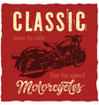 classic motorcycles label design for t-shirt vector image