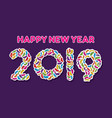 colorful new year 2018 greeting design vector image vector image