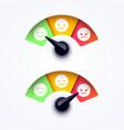 customer feedback satisfaction meter vector image vector image