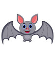 cute bat cartoon vector image vector image