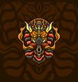 dark mighty egypt mascot vector image vector image