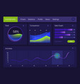 dashboard infographic template gradient vector image vector image