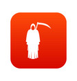 death with scythe icon digital red vector image vector image
