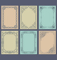 decorative frames set of curved graphic ornament vector image vector image