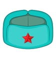 Earflaps Russian hat icon cartoon style vector image vector image