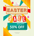 easter sale banner design and template vector image vector image