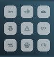 ecology icons line style set with harvest reduce vector image