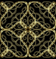 embroidery gold floral seamless pattern vector image vector image