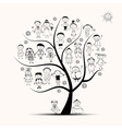 Family tree relatives people sketch vector | Price: 1 Credit (USD $1)