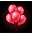 festive red balloons on isolated plaid transparent vector image