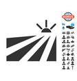 field sunset icon with free bonus vector image