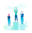 financial victory - flat design style colorful vector image