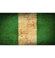 Flags Nigeria with dirty paper texture vector image