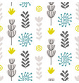 floral seamless pattern with colorful flowers vector image