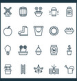 garden icons set with eggs bailer windmill and vector image