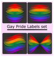 gay pride labels set vector image vector image
