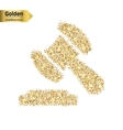 Gold glitter icon of gavel isolated on vector image