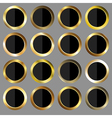 golden and black rounds vector image vector image
