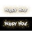 Happy hour paper banner vector image vector image