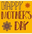 Happy Mothers Day Cover Handlettering Background vector image
