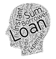 Instant Loans Fast Financial Assistance text vector image vector image