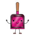 kawaii cartoon hand dustpan top view in colored vector image