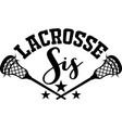 lacrosse sis on white background vector image vector image