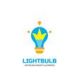 lightbulb - logo template concept vector image