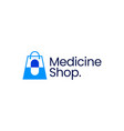 medicine shop store pharmacy capsule logo icon vector image